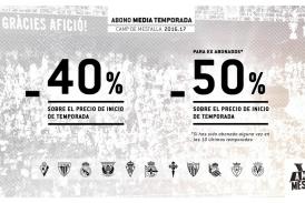 #AmuntMésQueMai| El Valencia lanza los abonos de media temporada con descuentos del 50%