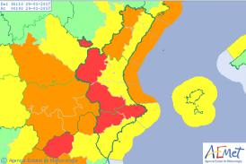 #OlaDeFrío| El temporal llega con fuerza a Valencia y la alerta roja se amplía