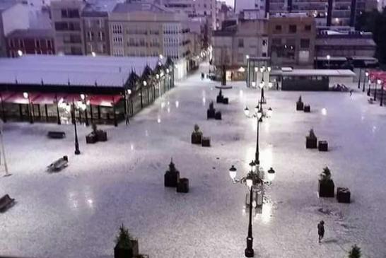 #OlaDeFrío| Espectacular granizada en Gandía y nieve en la Sierra Calderona
