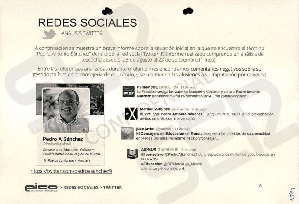 AIDMUR muestra su repulsa ante la alianza de Pedro Antonio Sánchez y empresas de la trama Púnica