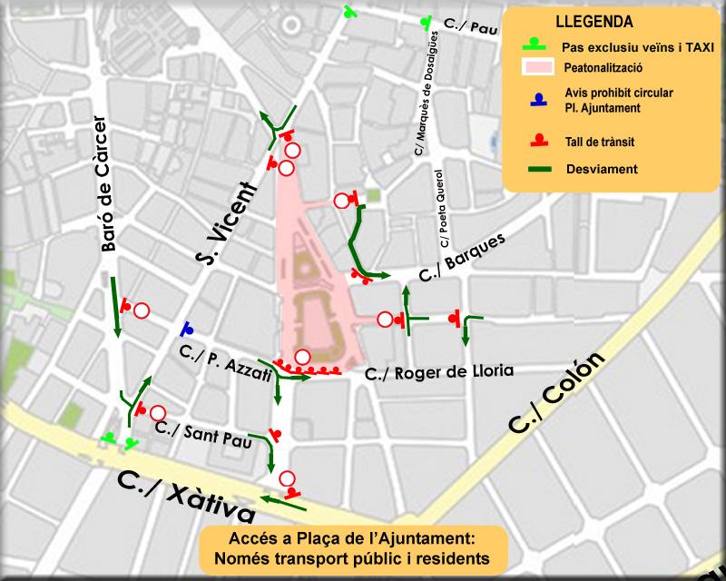 0428 Afeccions trànsit peatonalització plaça Ajuntament