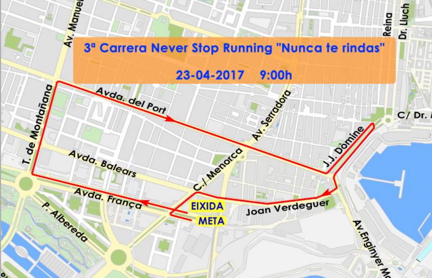 TRÁFICO| Estas son las calles cortadas por la carrera 'Never Stop Running' de este domingo
