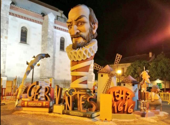 Las Fallas llegan a Alcalá de Henares para homenajear a Cervantes en el IV centenario de su muerte