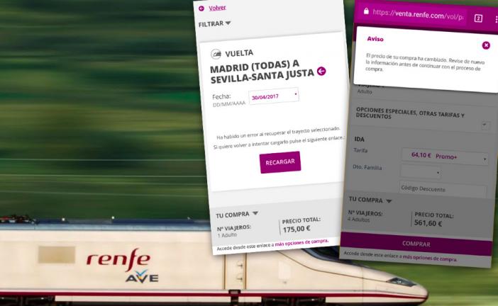 Facua denuncia que los billetes de AVE a 25 euros multiplican su precio por 7 al solicitarlos