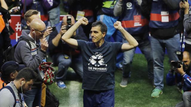 "@LevanteUD| Muñiz, eufórico: ""Voy a celebrar cada minuto de este ascenso"""