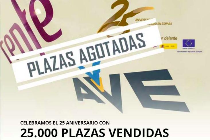 La web de Renfe se colapsa y amplía a 32.000 plazas la oferta de billetes de AVE a 25 euros