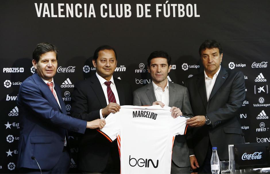 """Marcelino, en su presentación con el @ValenciaCF: """"Habrá profundos cambios en la plantilla"""""""