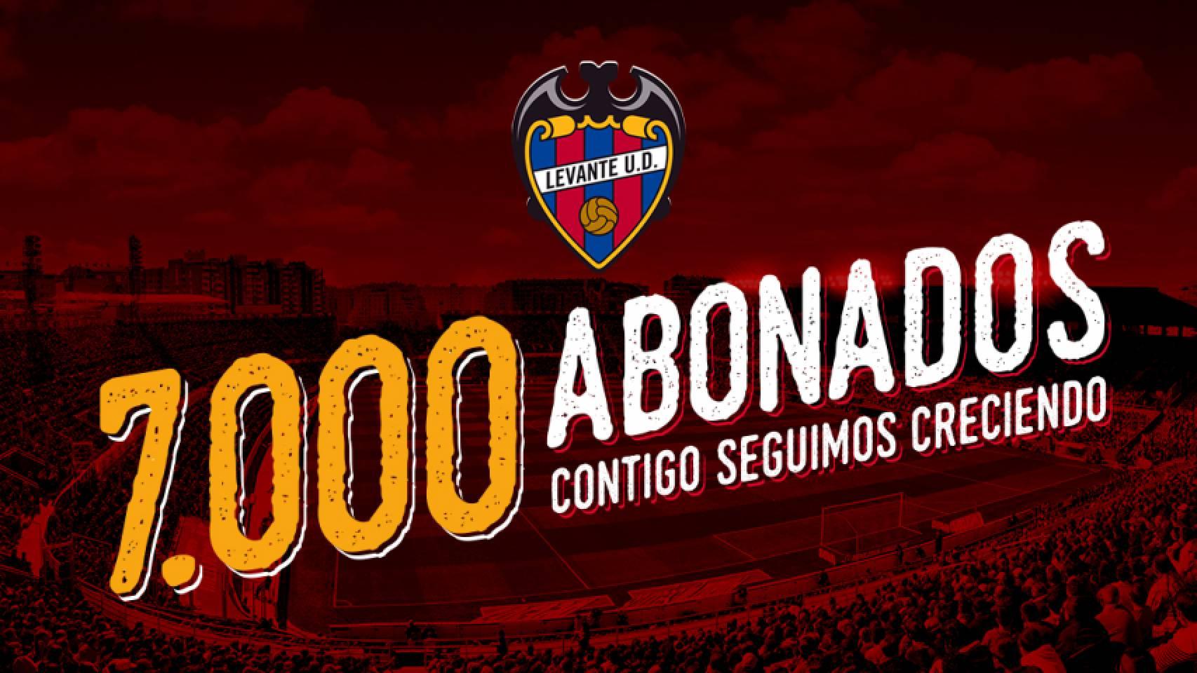 El @LevanteUD llega a los 7.000 abonados, un veinte por ciento nuevos