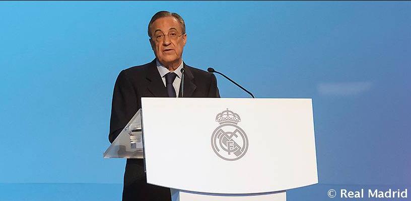 Florentino Pérez, reelegido como Presidente del Real Madrid al no tener oposición