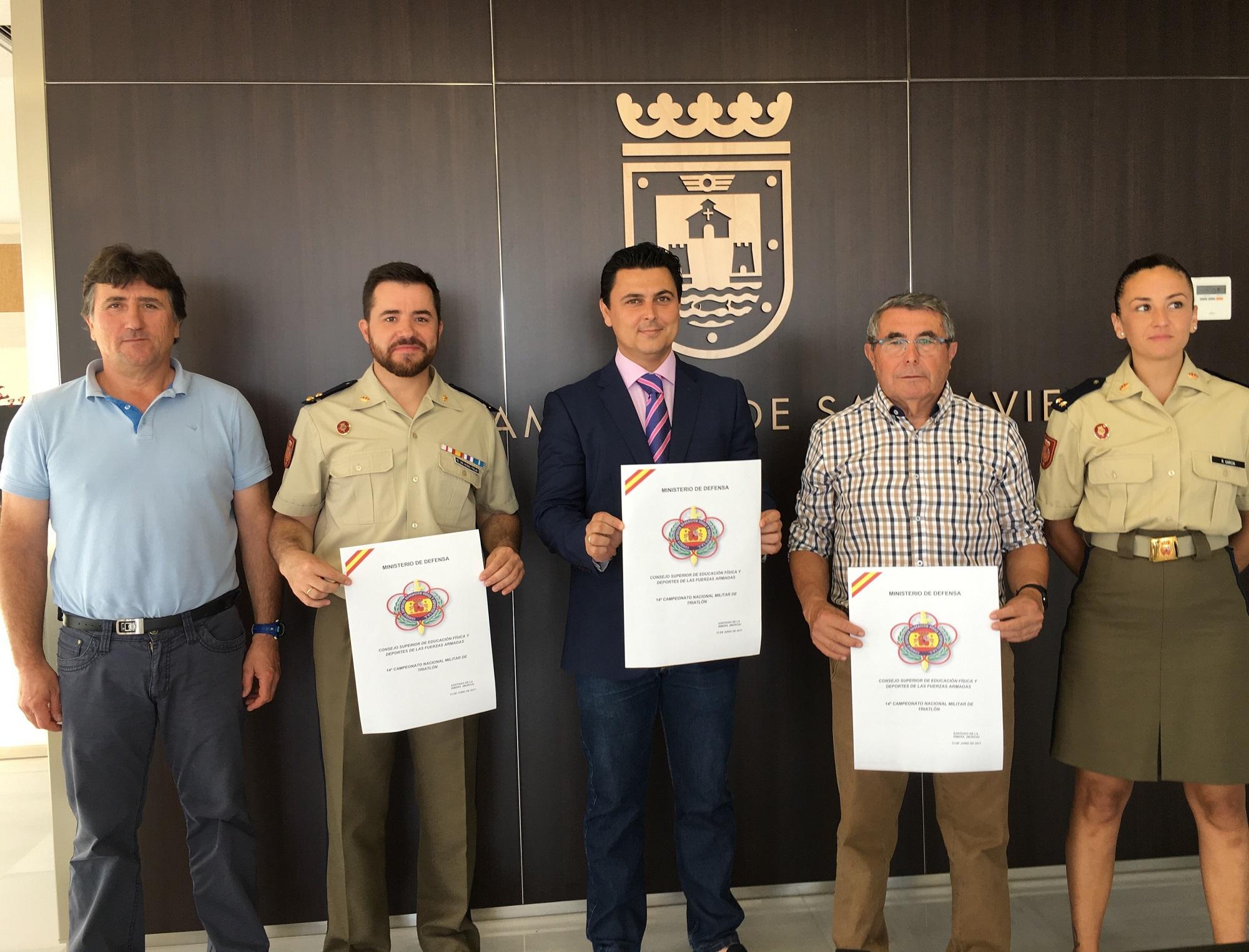 Las Fuerzas Armadas celebrarán en Santiago de la Ribera su 14º Campeonato Nacional Militar de Triatlón