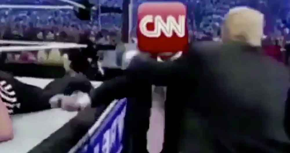 VIDEO| Donald Trump 'agrede' a la CNN en Twitter y el vídeo se hace viral