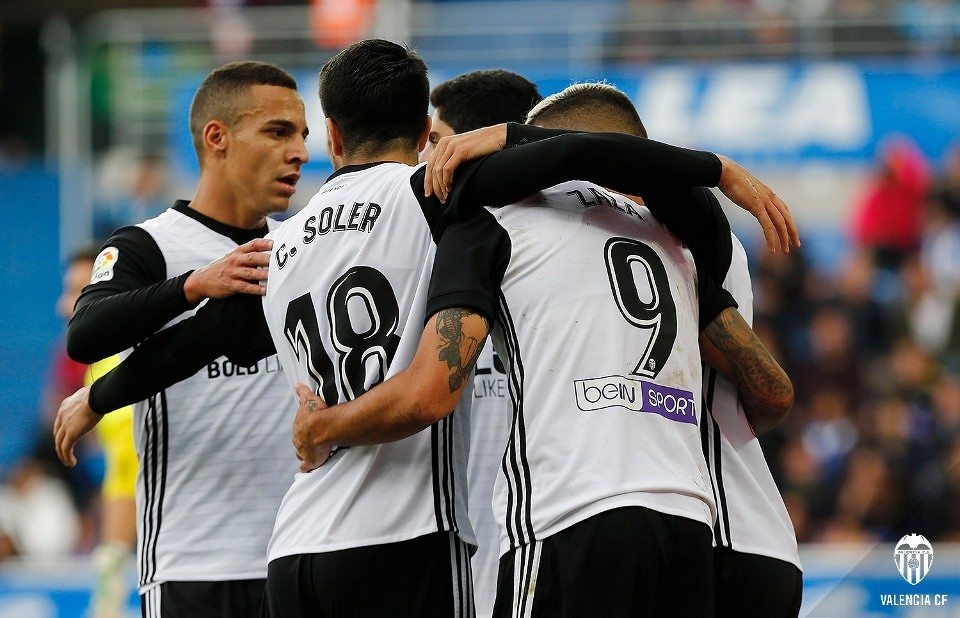 Valencia CF gol Zaza vs Alavés