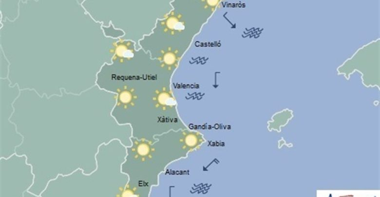 Cielos despejados este viernes en la Comunitat con temperaturas que caerán hasta los -4ºC