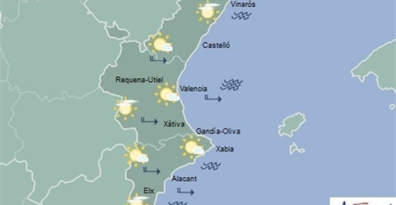 Cielos despejados y máximas de 22ºC este jueves en la Comunitat Valenciana