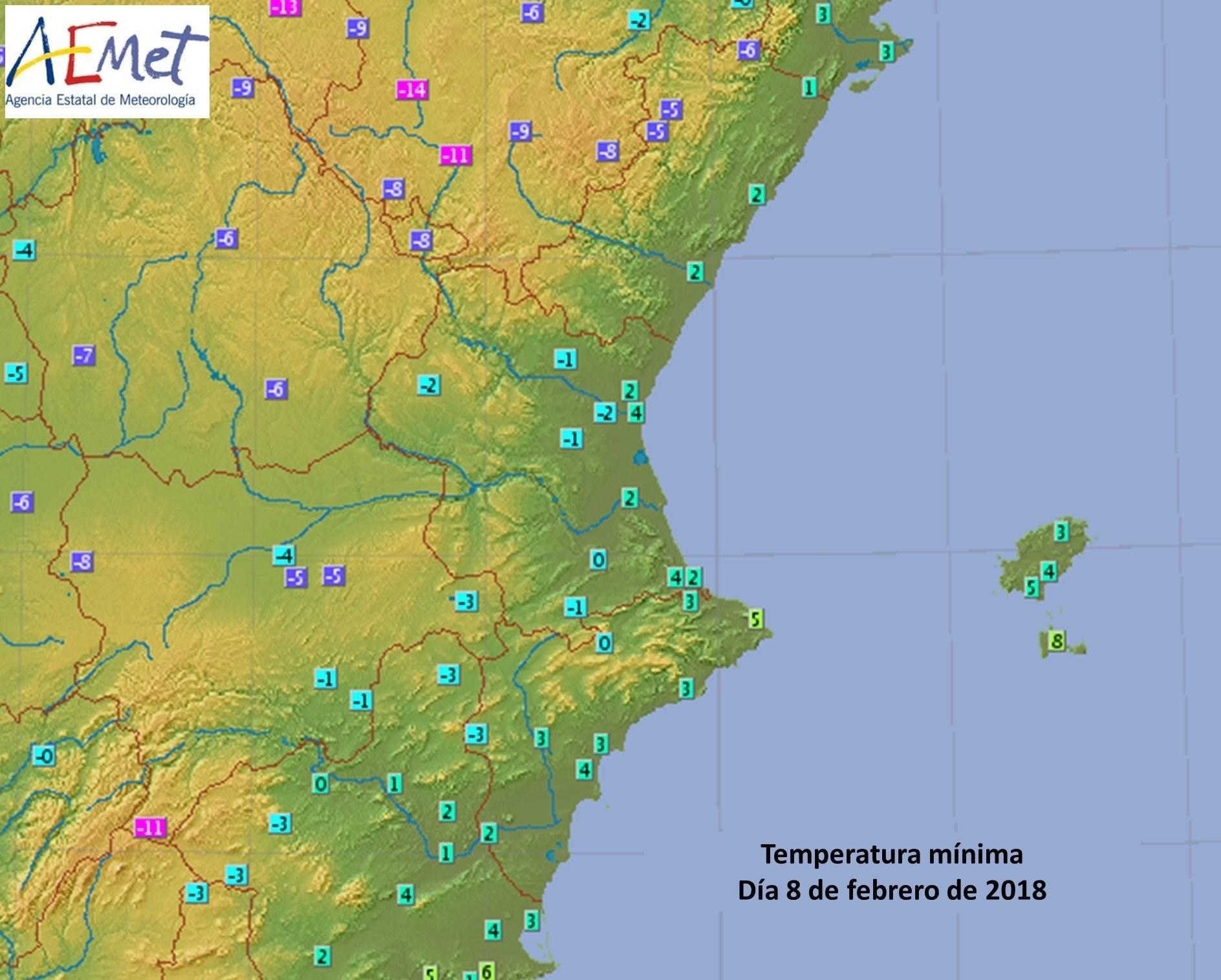 Noche de bajas temperaturas en varios municipios de la Comunitat
