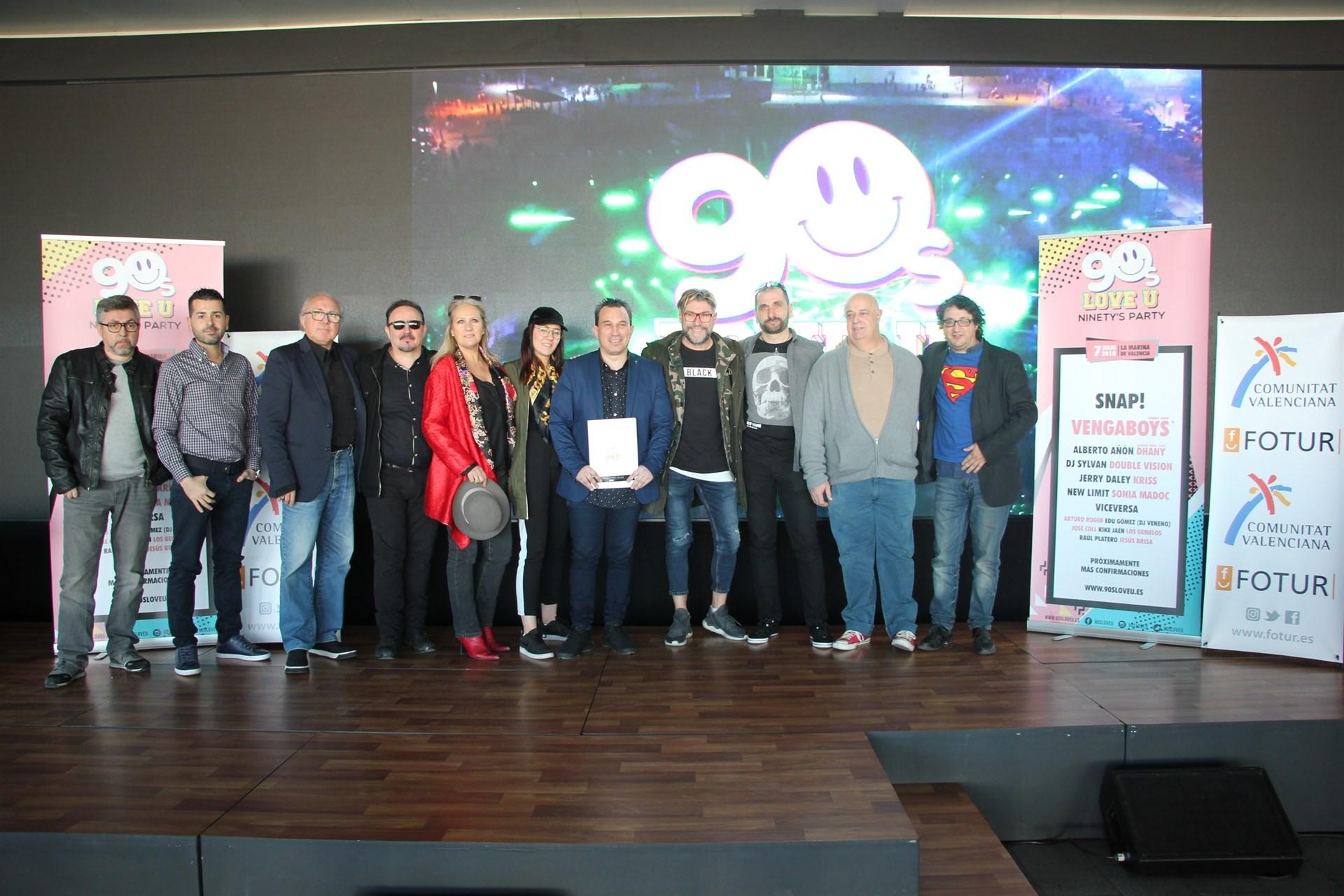 """València será """"capital del remember"""" con el festival 90sloveu en La Marina"""