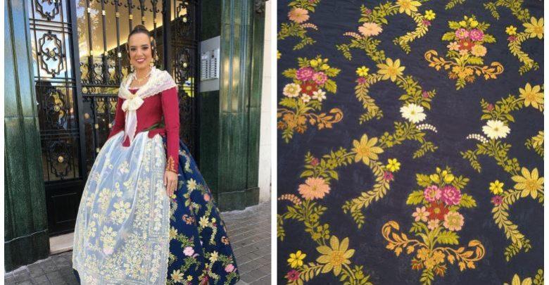 5c46039c0b Imágenes  Compañía Valenciana de la Seda y Amparo Fotografía. Apenas 20  días después de su nombramiento como Fallera Mayor de València 2019 ...