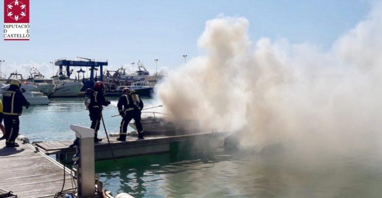 Incendio barco Castellón