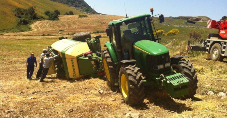 Accidente de un tractor