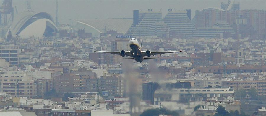 avión, viaje, valencia