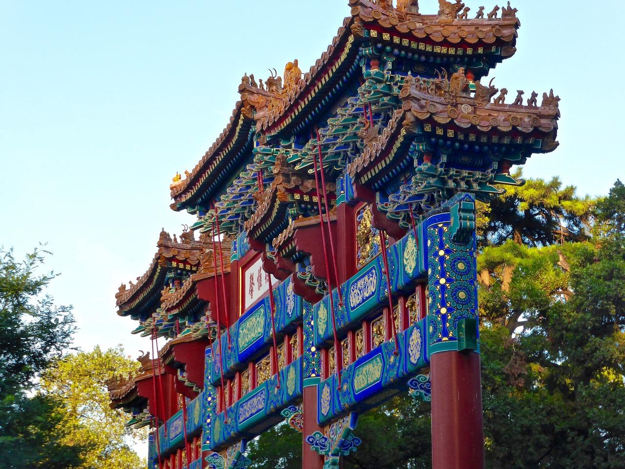 arcos chinos de Pelayo