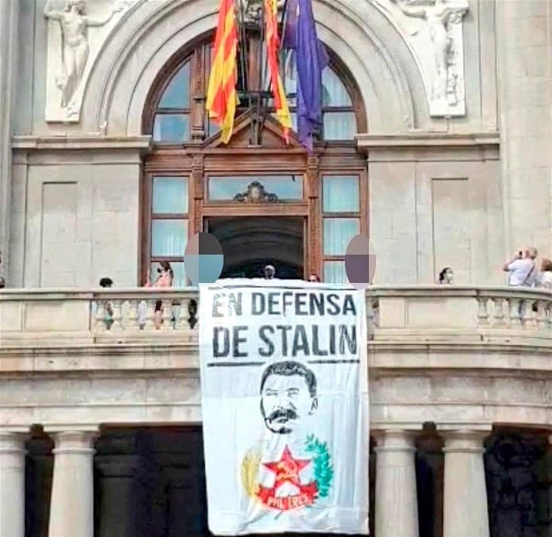 pancarta stalin ayuntamiento