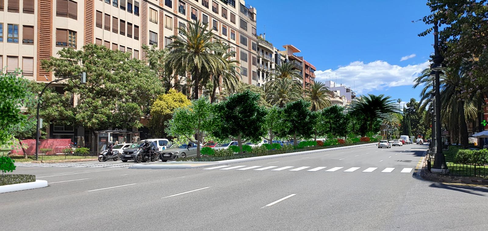 Así quedará la nueva Gran Vía Germanias de València