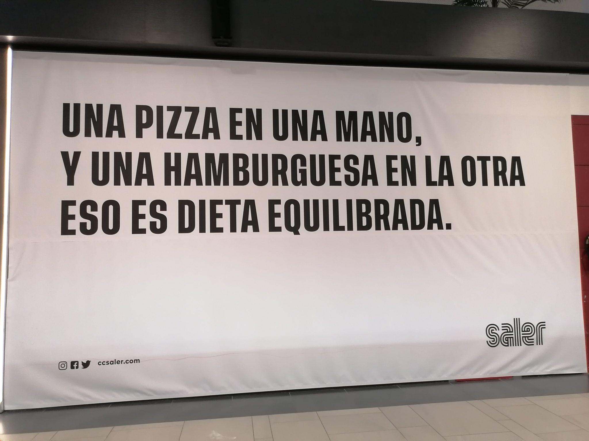 Piden la retirada de esta publicidad del Centro Comercial El Saler